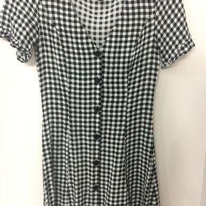 H&M Gingham Button Up Dress